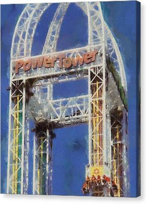 Power Tower Cedar Point Canvas Print by Dan Sproul