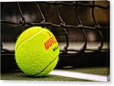 Practice - Tennis Ball By William Patrick And Sharon Cummings Canvas Print by Sharon Cummings