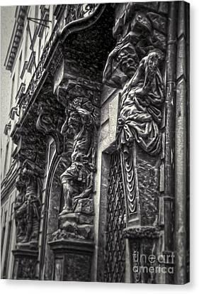 Prague Caryatids Canvas Print by Gregory Dyer