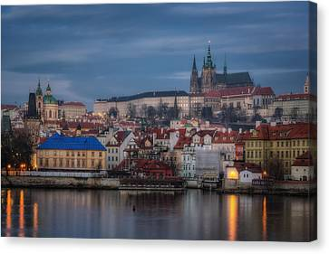 Prague Castle Dawn Canvas Print by Joan Carroll