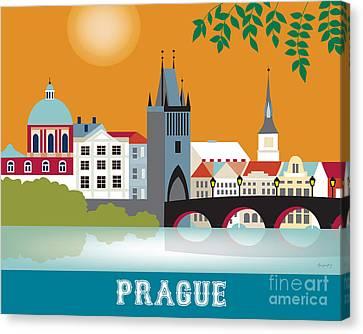 Prague Canvas Print by Karen Young