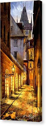 Prague Street Melantrichova Canvas Print by Dmitry Koptevskiy