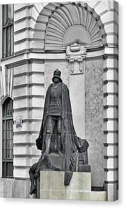 Prague - The Iron Man From A Long Time Ago And A Country Far Far Away Canvas Print by Christine Till