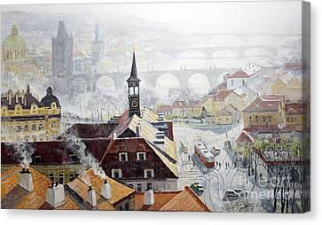 Praha Early Spring  Canvas Print by Yuriy Shevchuk