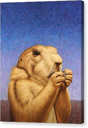 Prairie Dog Canvas Print by James W Johnson