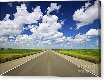 Prairie Highway Canvas Print by Elena Elisseeva
