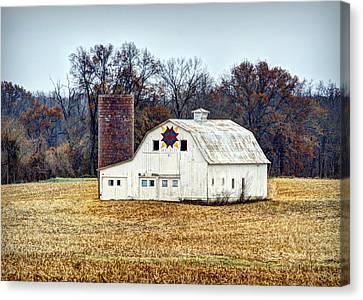Prairie Queen Quilt Barn Canvas Print by Cricket Hackmann