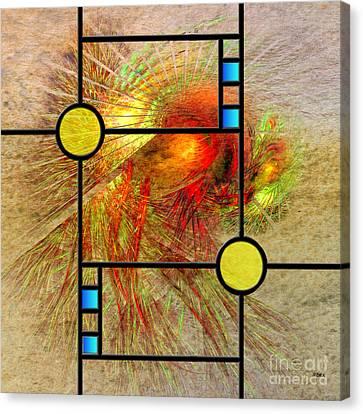 Prairie View - Square Version Canvas Print by John Robert Beck