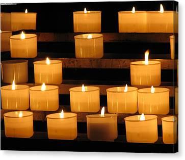 Prayer Candles Canvas Print by Karin Thue