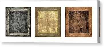 Prayer Flag Triptych Series Two Canvas Print by Carol Leigh