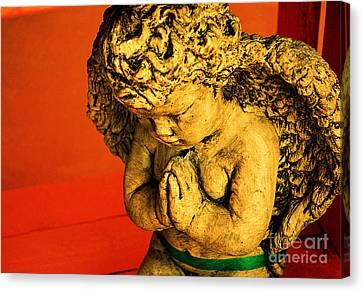 Praying Angel Canvas Print by Susanne Van Hulst
