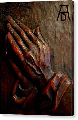 Praying Hands Canvas Print by Joyce Woodhouse