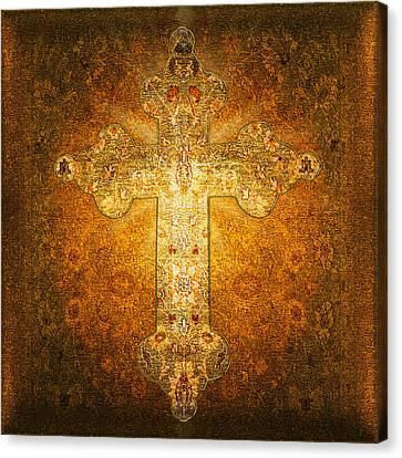 Precious Holy Cross Canvas Print by Li   van Saathoff