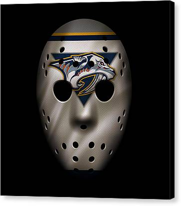 Predators Jersey Mask Canvas Print by Joe Hamilton