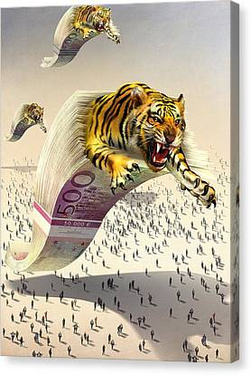 Predatory Financial Institutions, Canvas Print by Science Photo Library