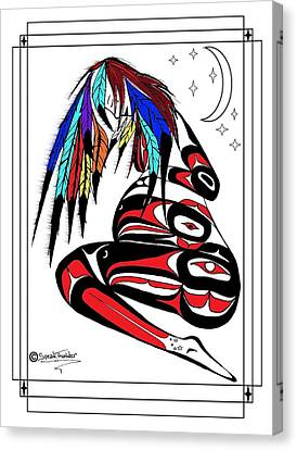 Prego Feathers Canvas Print by Speakthunder Berry