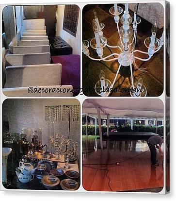 #premontaje #mobiliario #sofas Canvas Print by Decoraciones Gabriela Salomon