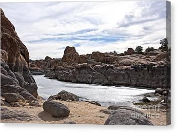 Prescott Arizona Winter Dells Iv Canvas Print by Lee Craig