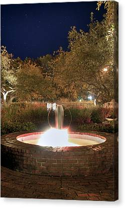 Prescott Park Fountain Canvas Print by Joann Vitali