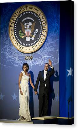 President And Michelle Obama Canvas Print by had J McNeeley