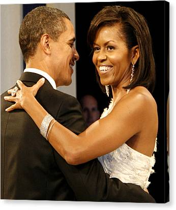 President And Michelle Obama Canvas Print by Official Government Photograph