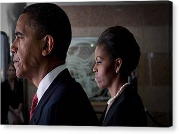 President And Mrs Obama Canvas Print by Mountain Dreams