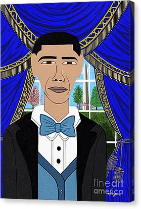 President Barack Obama Canvas Print by Mallory Blake