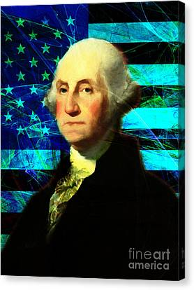 President George Washington V2 P138 Canvas Print by Wingsdomain Art and Photography