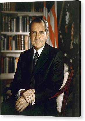 President Richard Nixon In An Official Canvas Print by Everett