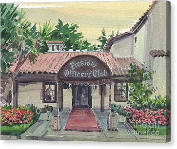 Presidio Officers' Club Canvas Print by Donald Maier