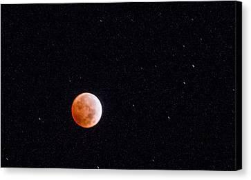 Pretty Face On A Blood Moon Canvas Print by Carolina Liechtenstein