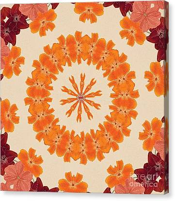 Pretty In Orange Canvas Print by Lena Photo Art