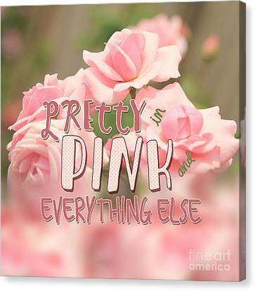 Pretty In Pink And Everything Else Hybrid Tea Roses Canvas Print by Beverly Claire Kaiya