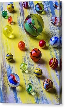 Pretty Marbles Canvas Print by Garry Gay