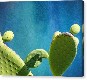 Prickly Pear Art Canvas Print by Vicki Jauron