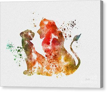 Pride Of Africa Canvas Print by Rebecca Jenkins