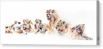 Pride Of Samburu Canvas Print by Stephie Butler