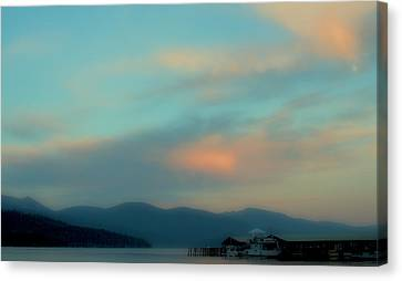 Priest Lake At Dusk II Canvas Print by David Patterson