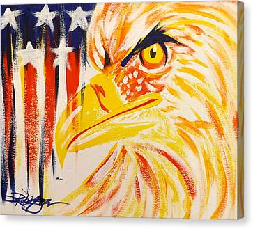 Primary Eagle Canvas Print by Darren Robinson