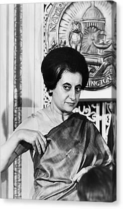 Prime Minister Indira Gandhi Canvas Print by Warren Leffler