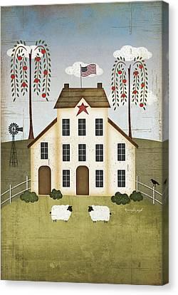 Primitive House Canvas Print by Jennifer Pugh
