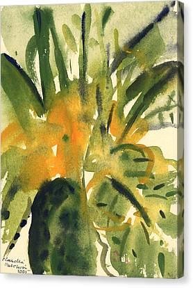 Primroses Canvas Print by Claudia Hutchins-Puechavy