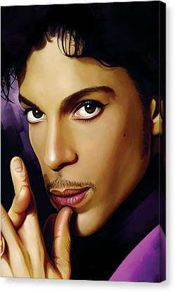 Prince Artwork Canvas Print by Sheraz A