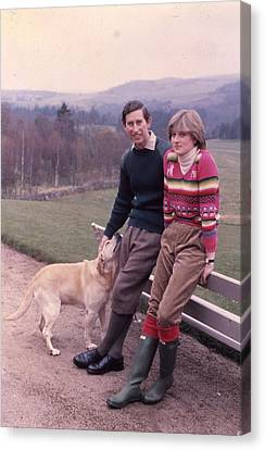 Prince Charles And Lady Diana Canvas Print by Retro Images Archive
