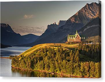 Prince Of Wales Sunrise Canvas Print by Mark Kiver