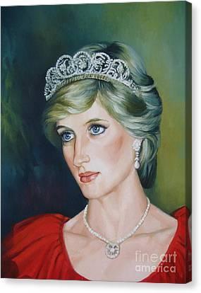 Princess Diana Canvas Print by Elena Oleniuc