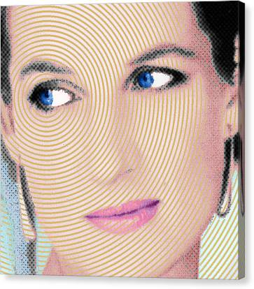 Princess Lady Diana Square Canvas Print by Tony Rubino