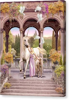 Princess Of The Unicorns Variant 1 Canvas Print by Garry Walton
