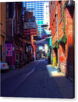 Printers Alley Nashville Tennessee Canvas Print by Dan Sproul