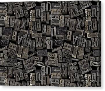 Printing Letters 2 Canvas Print by Bedros Awak